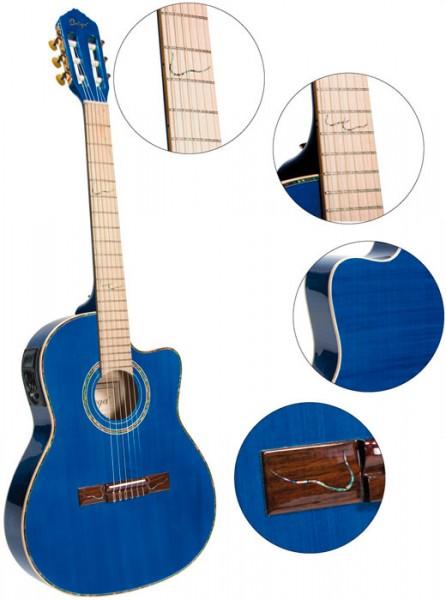 Ortega RCE-1415M-STB Konzertgitarre mit Tonabnehmer