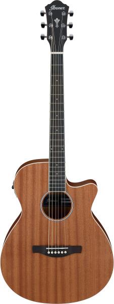 IBANEZ AEG Series Akustik/Elektrische-Gitarre 6 String Open Pore Natural, AEG7MH-OPN