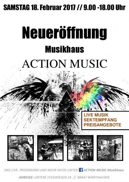 ACTION MUSIC Neueröffnung in Warthausen, am 18. Februar 2017