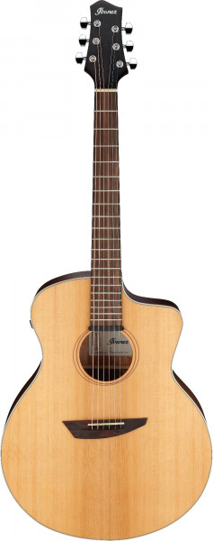 IBANEZ Platinum Collection Akustikgitarre - Natural Satin Top / Natural Low Gloss Boden und Zargen + Bag, PA230E-NSL