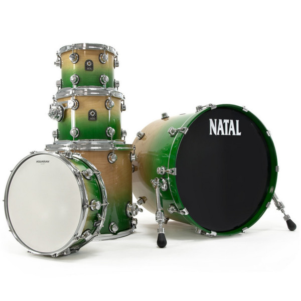 NATAL Shellset, Birch, US Fusion X, 5-tlg., Green Fade