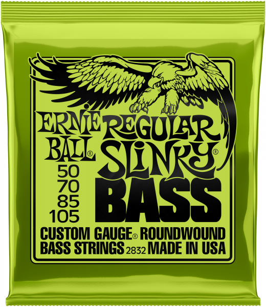 ERNIE BALL Saitensatz, E-Bass, Slinky, 4-String, Regular 50-105