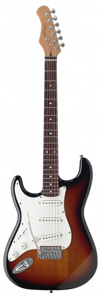 E-Gitarre Stagg Linkshänder Modell S300LH-SB