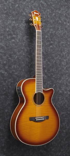 IBANEZ AEG Series Akustik/Elektrische-Gitarre 6 String Tiger Burst High Gloss, AEG20II-VV