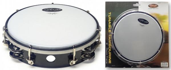 "Kunststoff-Tambourin 8"" TAB-208P/BK"