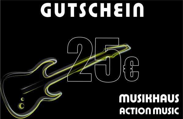 ACTION MUSIC Gutschein über 25.-€