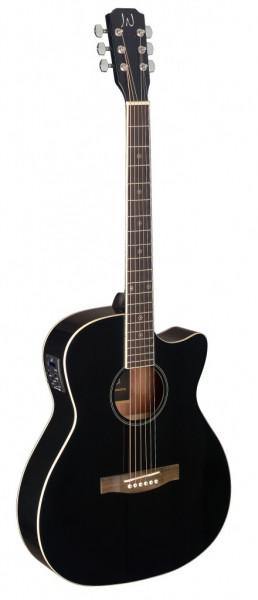 James Neligan BES-ACE BK Schwarze akustisch-elektrische Auditorium-Gitarre