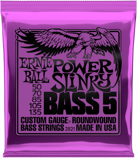 ERNIE BALL Saitensatz, E-Bass, Slinky 5-String, Power 50-135, EB2834