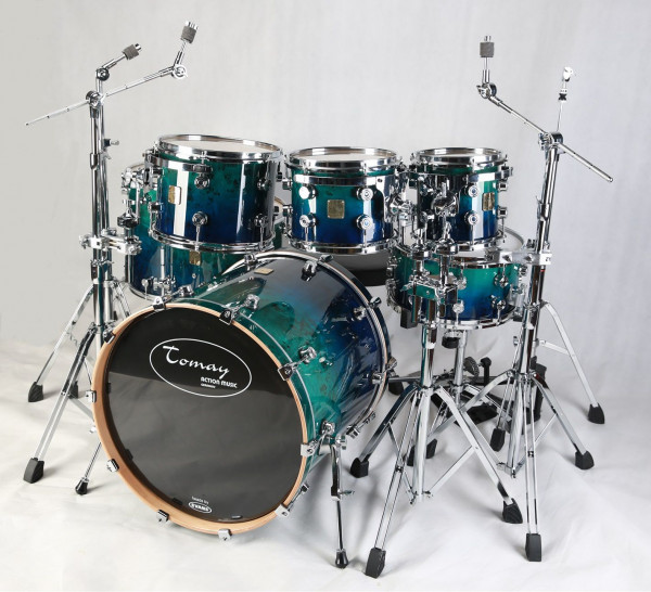 DRUM SET TOMAY EXOTIC 7 1 BLUE FADE