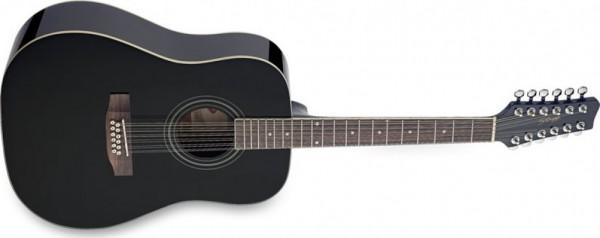 Stagg Westerngitarre 12-Saitig BK
