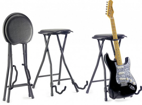 FOLDABLE GUITAR STOOL+STAND