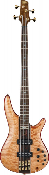 IBANEZ SR Premium E-Bass 4 String Florid Natural Low Gloss + Bag, SR2400-FNL