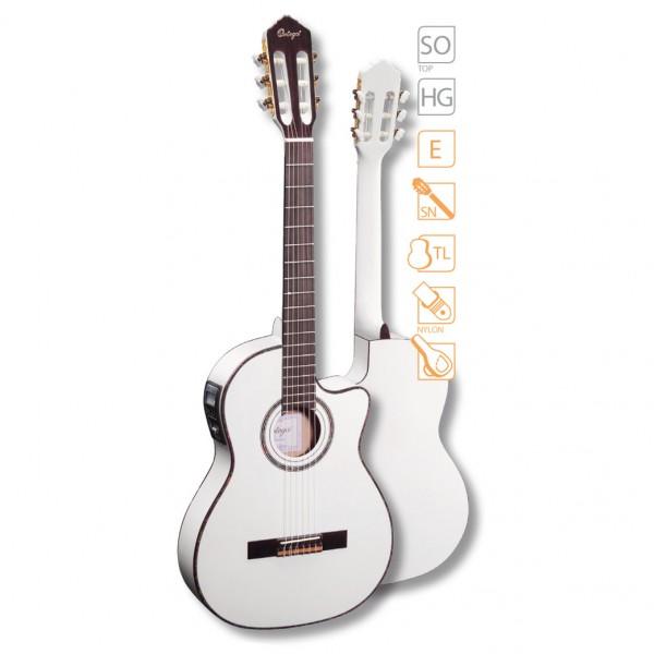 Ortega Konzertgitarre RCE 145WH mit Tonabnehmer