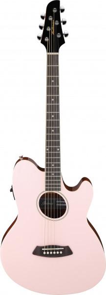 IBANEZ Talman Akustikgitarre Doppel Cutaway Preamp 6 String Pastel Pink, TCY10E-PKH