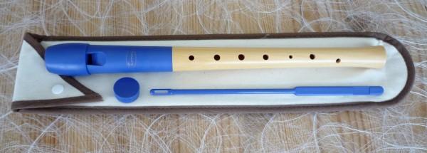Tomay Sopran Blockflöte barock, blau