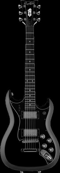 HAGSTROM E-Gitarre HSH2NT6009, H-II NT Ltd, 60th Anniversary, Black Top