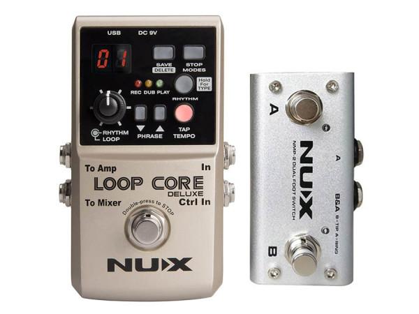 LOOPCDLX/B |NUX Core Series Loop Pedal Bundle LOOP CORE DELUXE