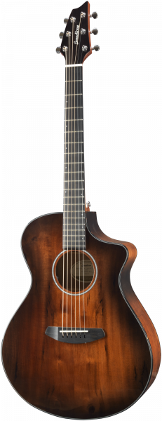 BREEDLOVE Westerngitarre, Pursuit Exotic, Concert, Cut, Bourbon Gloss