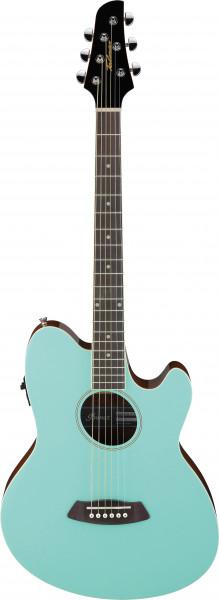 IBANEZ Talman Akustikgitarre Doppel Cutaway Preamp 6 String Farbe: Sea Foam Green, TCY10E-SFH