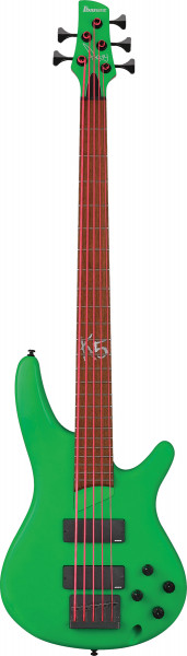 IBANEZ Fieldy Signature E-Bass 5 String Flourescent Green Matte, K5LTD-FGM