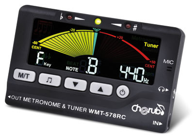 Cherub WMT-578RC Black Chromatic Metro Tuner