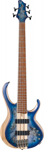 IBANEZ BTB Serie E-Bass 5 String Cerulean Blue Burst Low Gloss, BTB845-CBL