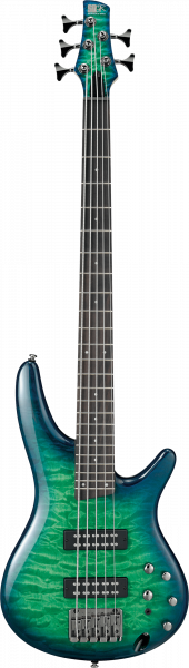IBANEZ SR-Series E-Bass 5 String Surreal Blue Burst Gloss, SR405EQM-SLG