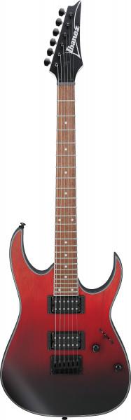 IBANEZ RG-Serie E-Gitarre 6 String Transparent Crimson Fade Matte, RG421EX-TCM