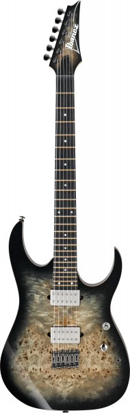 E-GUITAR RG 6-STR. IBANEZ, CHARCOAL BLACK BURST, RG1121PB-CKB