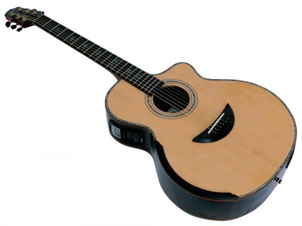Tomay AFH131CE Westerngitarre mit TA und Stimmgerät, vollmassi