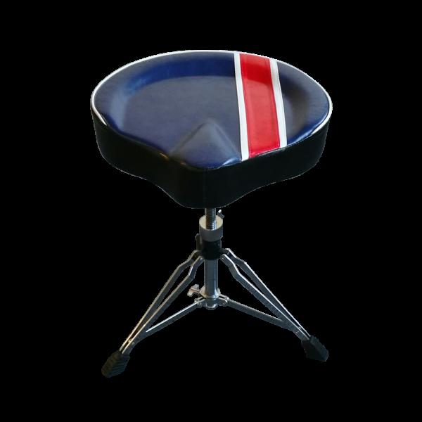 Drummer Sattel Echtleder TOMAY Premium