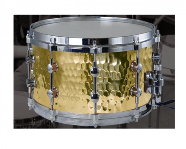 MES Hand Hammered Yellow Brass Shell Snare