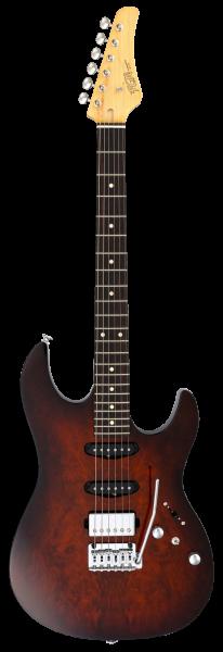 FGN E-Gitarre, J-Standard Odyssey DU, Imbuia Brown Sunbust, FGJOS2DUEW1RIBS