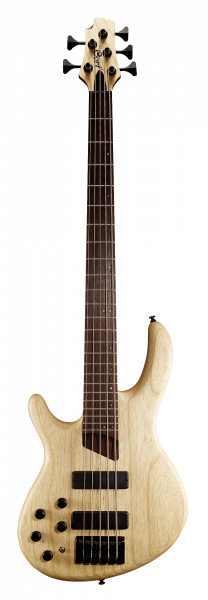 CORT Bassgitarre, B5 Plus AS, Open Pore Natural, 5-Saiter, Linkshänder, COB5PLHOPN2
