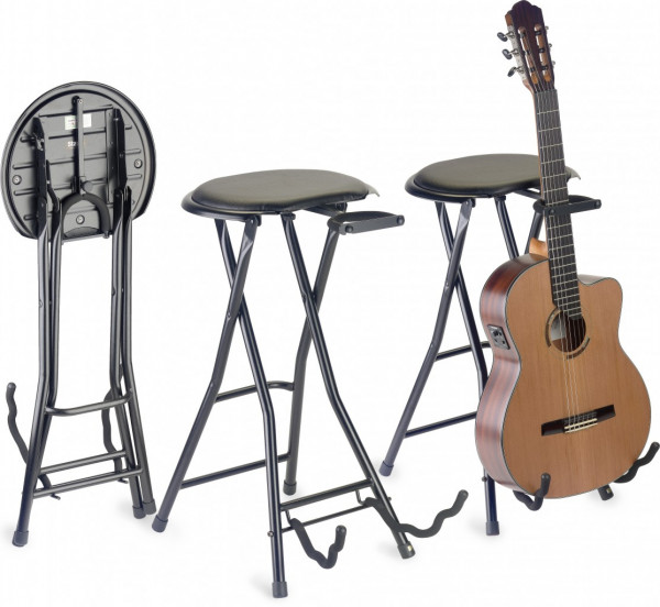 FOLDABLE GUITAR STOOL+STAND GIST-350