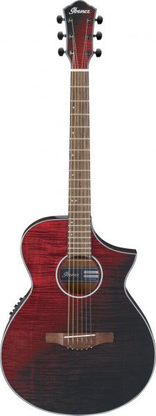Ibanez AEWC32FM-RSF Red Sunset Fade Westerngitarre