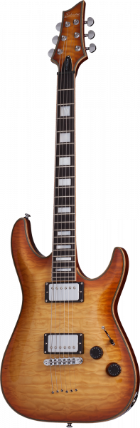 SCHECTER E-Gitarre, Custom C-1, Natural Vintage Burst, SC653