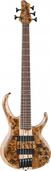 """IBANEZ E-Bass 5-Saiter """"Volo"""" Antique Brown Stained Low Gloss, BTB845V-ABL"""