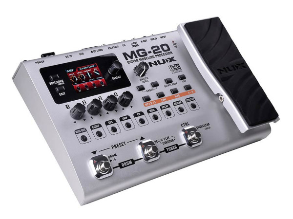 MG-20  NUX Gitarren-Multi-Effekt-Pedal mit Expression Pedal