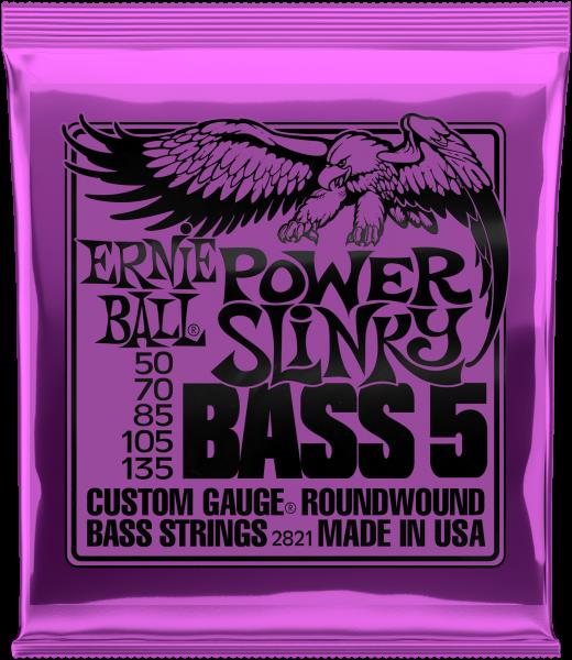 ERNIE BALL Saitensatz, E-Bass, Slinky 5-String, Power 50-135