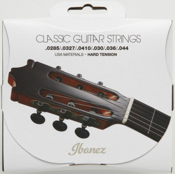 IBANEZ Saiten Set für 6 String Hard Tension, Clear Nylon / Silverplated Wound, ICLS6HT,