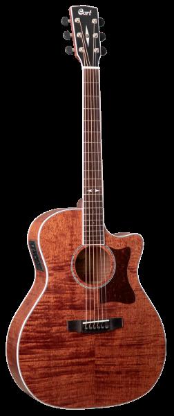 CORT Westerngitarre, GA5F-FMH, Open Pore, Preamp
