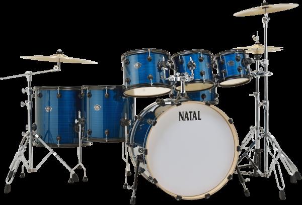 NATAL Shellset, Arcadia, Progressive Rock, 7-tlg., Blue Strata