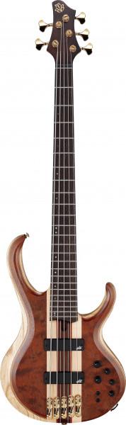 IBANEZ BTB Premium Series E-Bass 5 String Natural Shadow Low Gloss + Bag, BTB1835-NDL