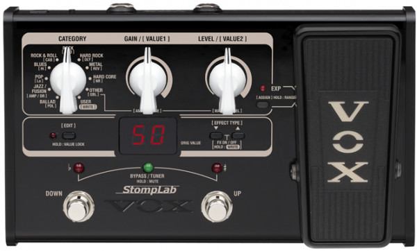 VOX Gitarrenprozessor, StompLab, E-Gitarre, Multieffekt + Pedal, VXSL2G