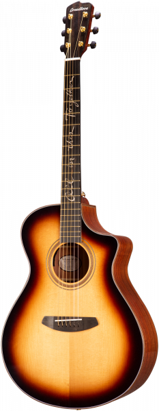 BREEDLOVE Westerngitarre, Organic Amazon, Jeff Bridges, Concert, Sunburst, BRAMC29CESJB