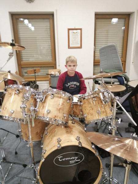 DRUM SET TOMAY EXOTIC 7-1 (Fritz Härle, 1. Rang bei Jugend Musiziert)