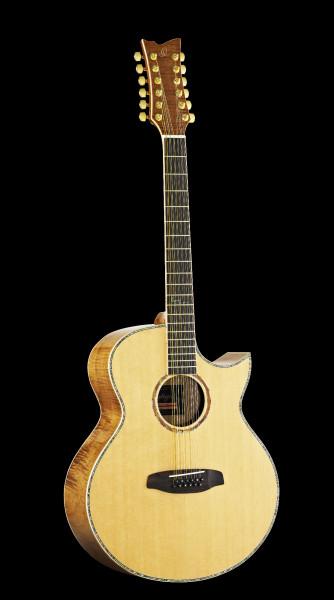 ORTEGA Westerngitarre 12-Saitig OPAL-4012CE mit Tonabnehmer