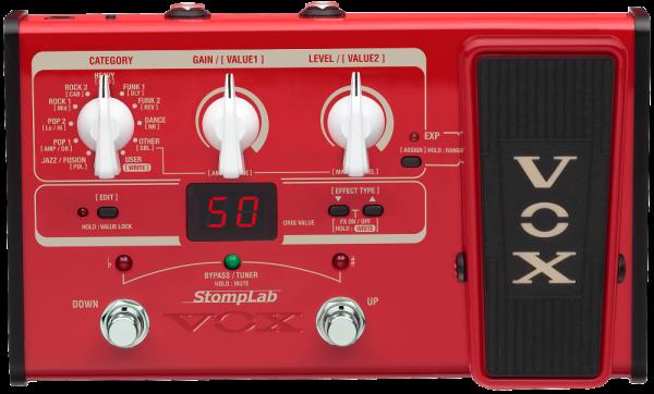 VOX Gitarrenprozessor, StompLab, Bassgitarre, Multieffekt + Pedal, VXSL2B