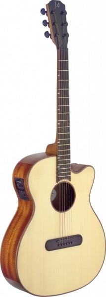 Lismore Series e.a. Mini-Jumbo-Gitarre m. Cutaway u. massiver Fi